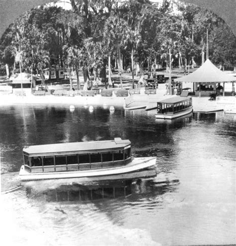Silver Springs Glass Bottom Boat by Florida Memory Glass Bottom Boats By Dock At Silver