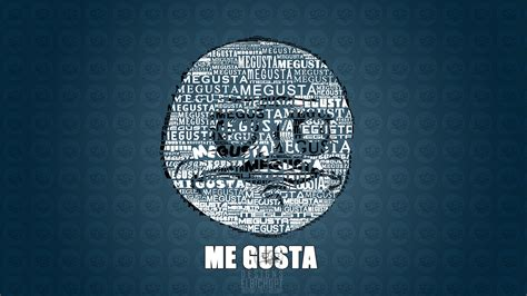 Blue Funny Meme Me Gusta Blue Background 1920x1080