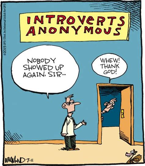 Introvert Meme - mystery fanfare cartoon of the day introverts anonymous