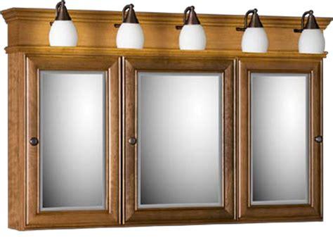 Strasser Tri View Medicine Cabinet With Three Mirror Doors