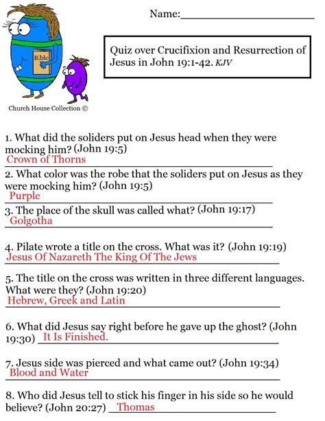 Quiz Over Crucifixion And Resurrection Of Jesus