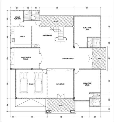 contoh gambar denah rumah besar  lantai desain rumah