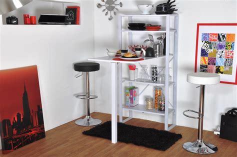 tablette escamotable cuisine meuble bar rangement cuisine salon blanc laque ikea 36