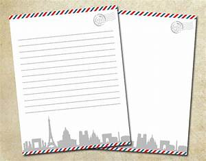 air mail paris letter paper pack 85 x 11 by ketrinadesign With print letter postage online