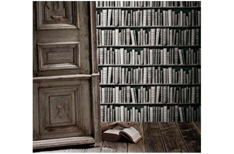 papier peint biblioth 232 que grise papier peint trompe l