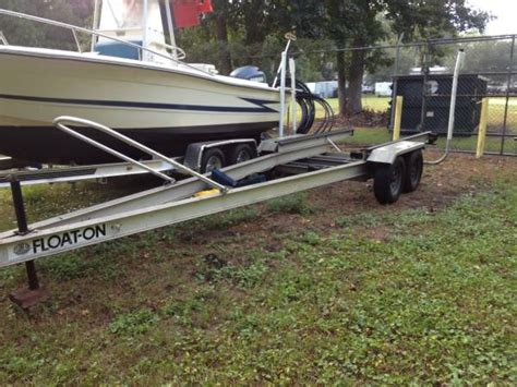 Aluminum Float On Boat Trailers by Sold Tandem Axel Aluminum 22 Trailer 2008 The Hull