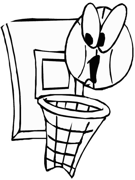 Kleurplaat Basketbal by Basketbal Kleurplaten Animaatjes Nl
