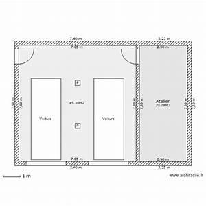 Garage 2 Voitures : garage 2 voitures plan 2 pi ces 70 m2 dessin par nono16 ~ Melissatoandfro.com Idées de Décoration