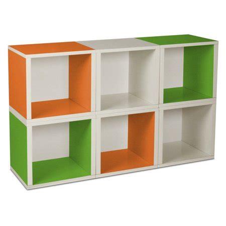 Modular Cube Bookcase by Way Basics Modular 6 Cube Bookcase Walmart
