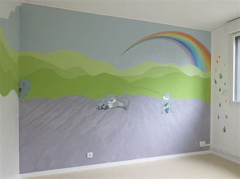 peinture mur chambre bebe idées déco chambre bébé et enfants mur evasion