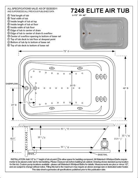 elite vessel installation instructions watertech a7248 elite air bath tub 7248 at tubzandmore