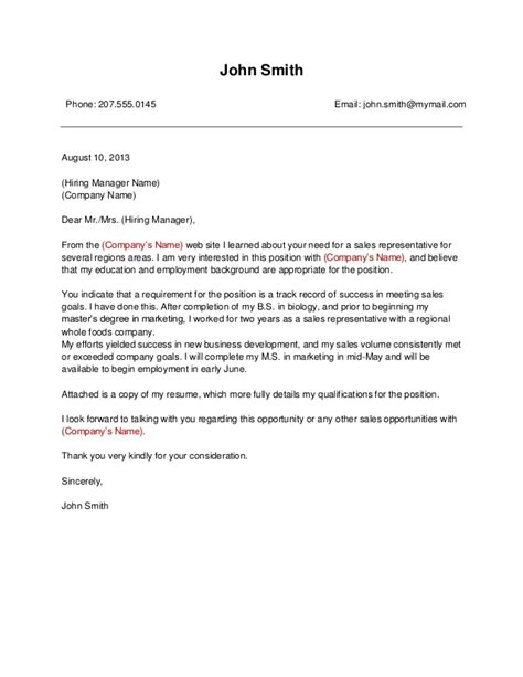 template  business cover letter
