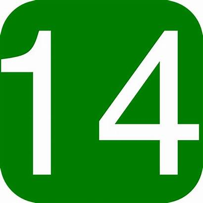 Number Clip Square Clipart Rounded Numbers Eleven