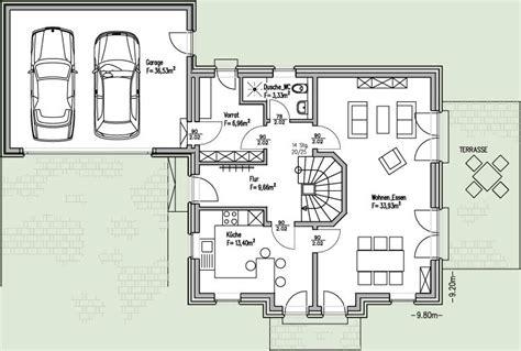 Einfamilienhaus Mit Integrierter Doppelgarage Grundriss by Grundrisse Einfamilienhaus Mit Doppelgarage