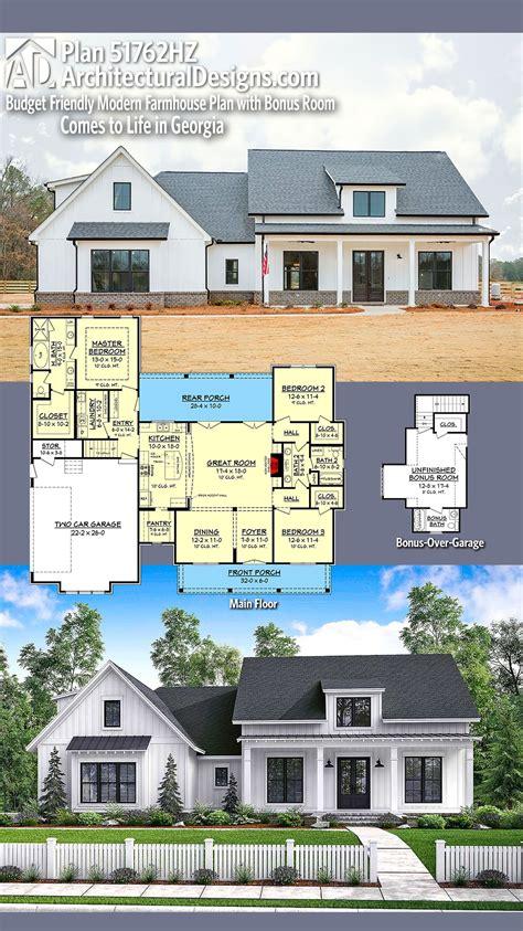 plan hz budget friendly modern farmhouse plan