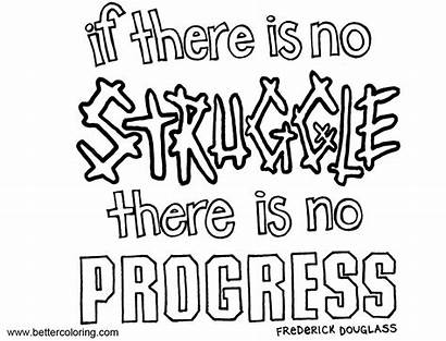 Growth Mindset Quotes Coloring Struggle Pages Progress