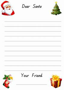 free printable letter to santa paper With paper to write letter to santa