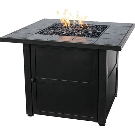 propane fire table glass top 15 types of propane patio fire pits with table buying