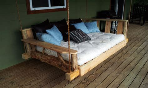 diy outdoor hanging bed diy porch swing bed furniture
