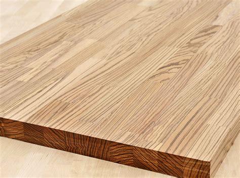 Arbeitsplatte / Küchenarbeitsplatte Massivholz Zebrano Kgz