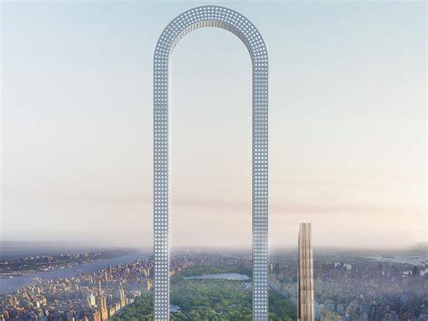U-förmige Wolkenkratzer sparen Platz in der Großstadt