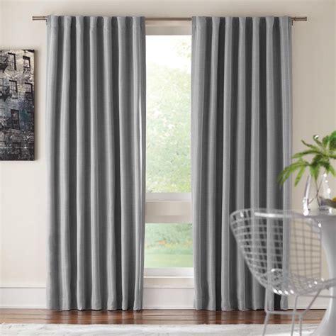 Back Tab Drapes home decorators collection semi opaque gray room darkening