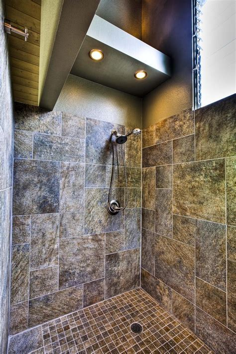 shower lighting ideas Bathroom Tropical with bamboo
