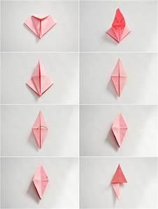 Fleur En Origami Facile : guirlande fleurs origami ~ Farleysfitness.com Idées de Décoration