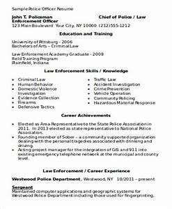How To Make A Resume Free Sample Free 9 Sample Police Resume Templates In Ms Word Pdf