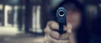 Gun Pointing Background Dark Shutterstock Target