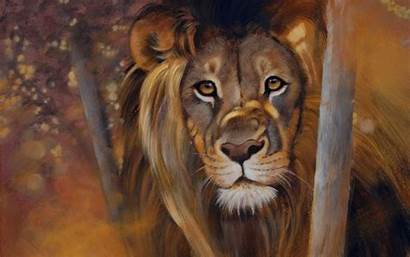 Lion Painting Background Screensavers Animals Animal Glance