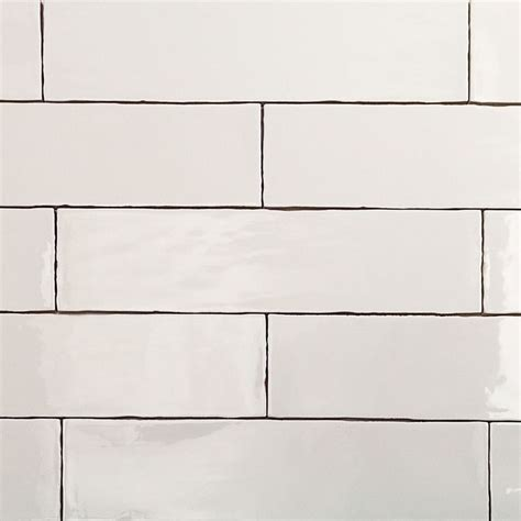 4 X 8 Glossy White Subway Tile by Simple White Subway Tile In An Updated More Slender Size
