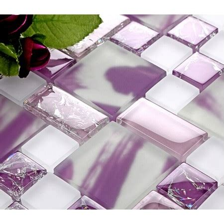 pink glass tile backsplash tile glass mosaic tiles wall decor