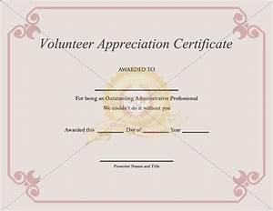 volunteer recognition certificate template - volunteer appreciation certificate template certificate