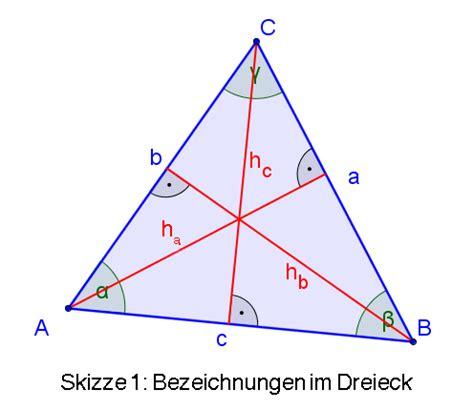 geometrie berechnungen im dreieck exbook