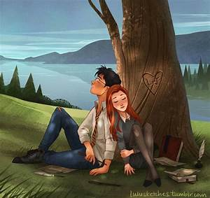 Harry Potter | Harry and Ginny fan art by lulusketches on ...