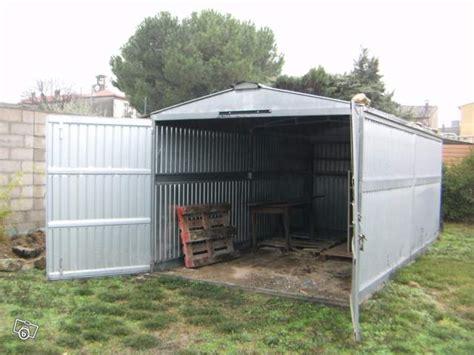abri de jardin en tole galvanise troc echange garage abri tole galvanis 233 2 portes 18m2 sur troc