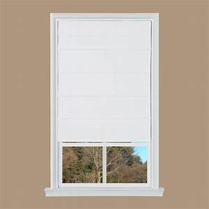 white cotton canvas cordless roman shade 27 in w x 64 With best roman shades reviews