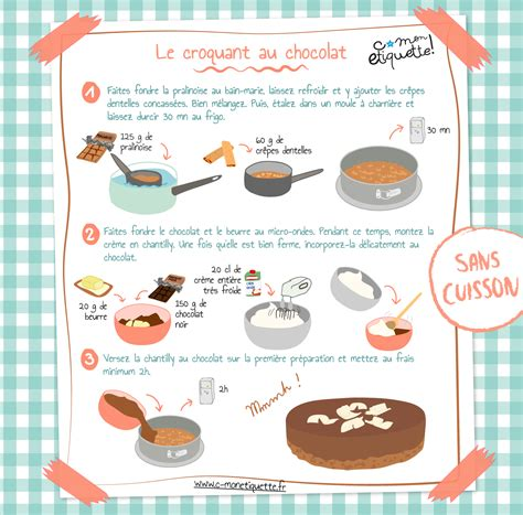 recette croquant chocolat recette croquant découvrir et