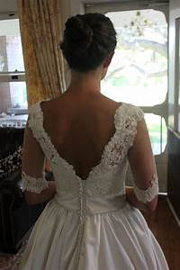 adding a lace overlay to a strapless wedding gownthread With adding sleeves to a wedding dress before and after