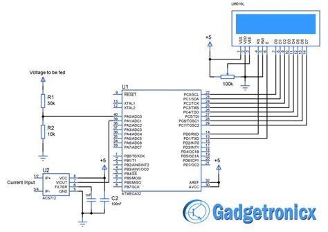 Volt Amp Meter Using Avr Microcontroller Electronics
