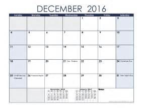 december 2016 holidays 2016