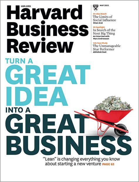 Harvard Business Review, May 2013