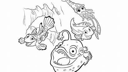 Splash Coloring Pages Fish Bubbles Pbs Soap