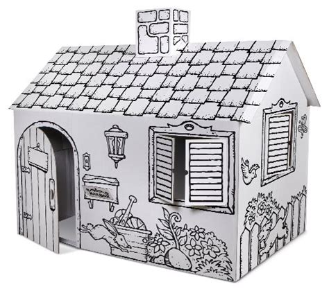 obtain discovery cardboard color me play house within