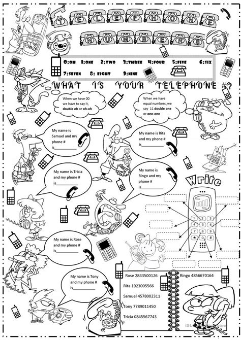 Preschool Worksheets About Telephone Manners Preschool