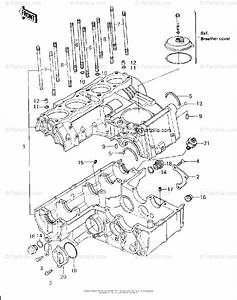 Kawasaki Motorcycle 1980 Oem Parts Diagram For Crankcase