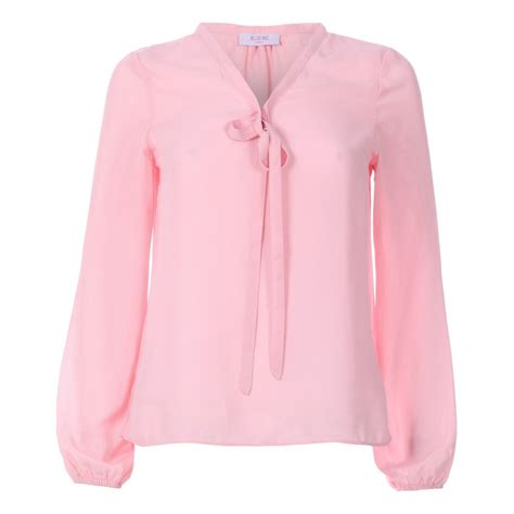 bow neck blouse womens pink bow neck chiffon blouse