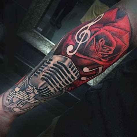 microphone tattoo designs  men manly vocal ink