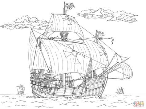 Drakenpoot Kleurplaat by Barcos De Piratas Para Colorear Colorear Im 225 Genes